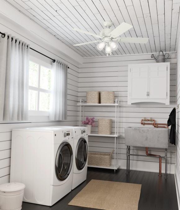 シーリングファン洗濯室画像
